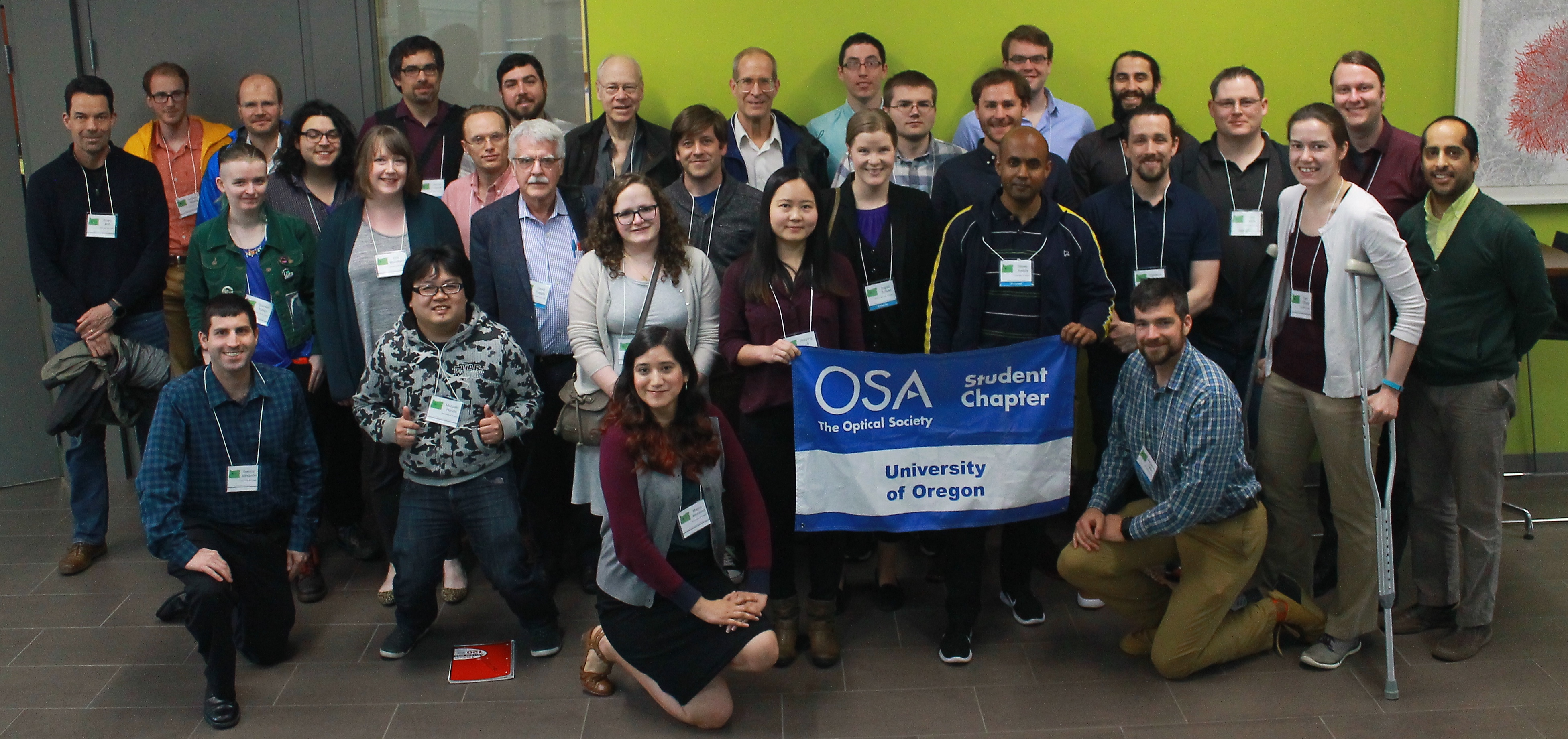 Group of 30 OSA members from UO chapter